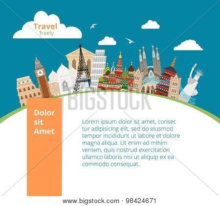 World landmarks background