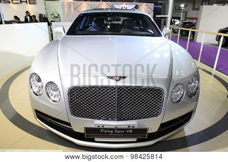 Bangkok - August 4: Bentley Flying Spur V8 Car On Display At Big Motor Sale On August 4, 2015 In Ban