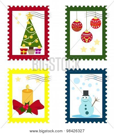 Collections of Christmas stamps