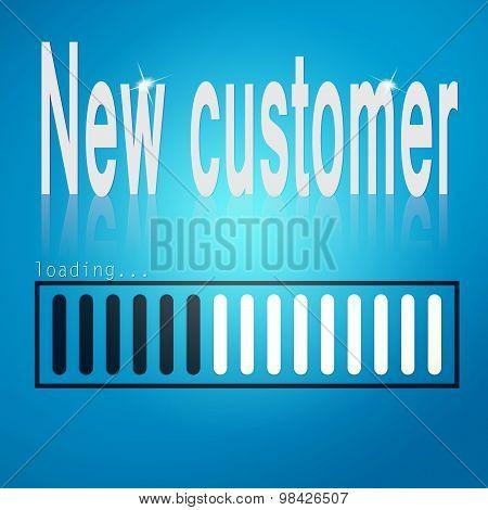New Customer Blue Loading Bar