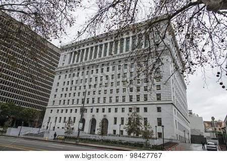 Los Angeles, USA - December 16, 2014: Hall of Justice in Los Angeles. on December 16, 2014