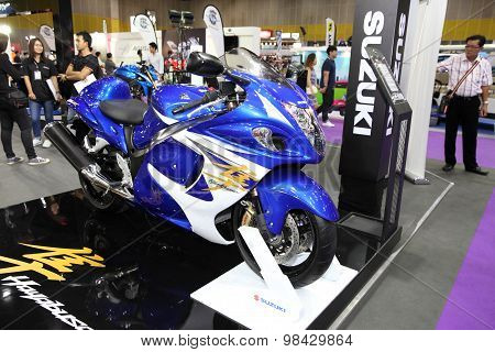 Bangkok - August 4: Suzuki Hayabusa Motorcycle On Display At Big Motor Sale On August 4, 2015 In Ban