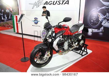 Bangkok - August 4: Agusta Motorcycle On Display At Big Motor Sale On August 4, 2015 In Bangkok, Tha