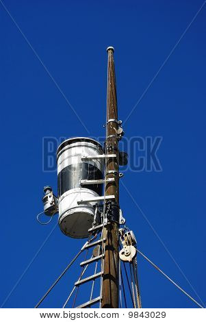 Watchman Nest On The Mast Of A Whaling Ship