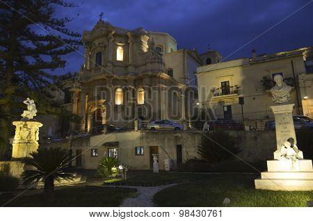 Sicilian Baroque In The Night