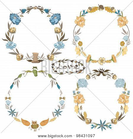 Fall Vector Wreath Set