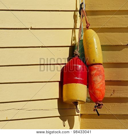 Fishing Buoys House Wall Yellow