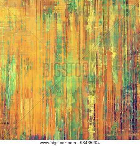 Grunge colorful background or old texture for creative design work. With different color patterns: yellow (beige); brown; green; red (orange)