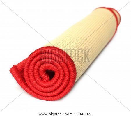 Rolled door mat