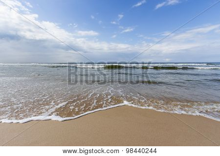 Beautiful landscape of the Baltic Sea, Karwia, Poland
