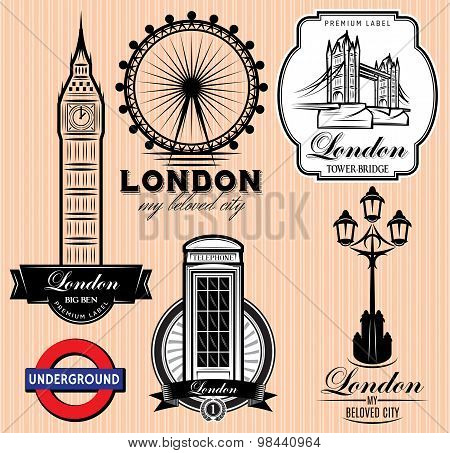 Set Of Patterns With London Attractions
