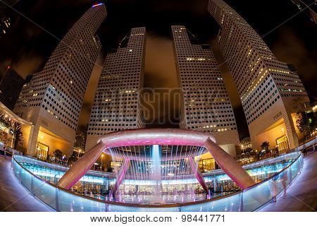 Fisheye View Of Fountain Of Wealth, Singapore