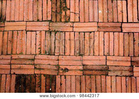 Old brick floor