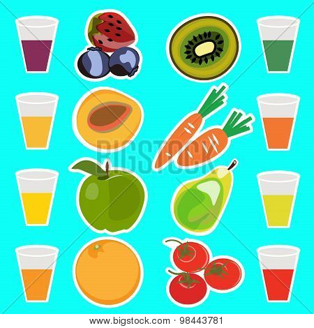 Useful delicious fresh fruit juices