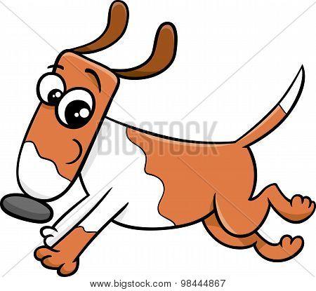Running Dog Or Puppy Cartoon