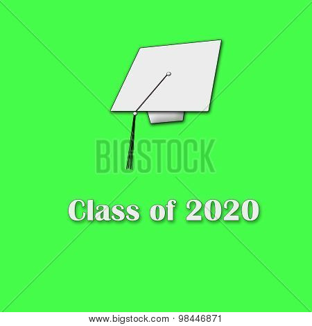 Class of 2020 White on Green Single Large