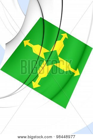 Flag Of Federal District, Brazil.