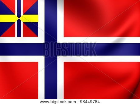 National And Merchant Flag Of Norway (1844-1899)