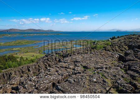 View over Thingvellir National park