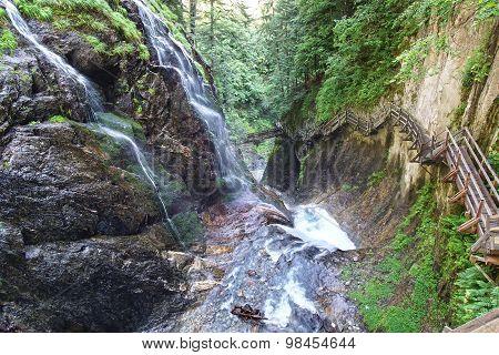 Canyon Gorges Du Durnand. Switzerland.