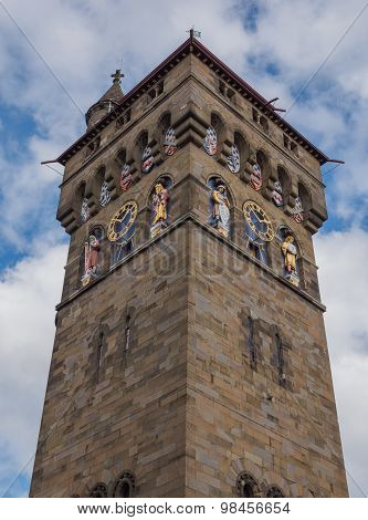 The clock tower of Cardiff Castle, Wales