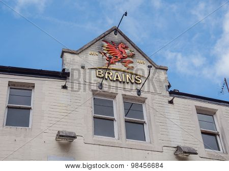 Exterior of Brains brewery