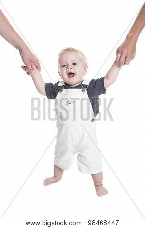 small baby isolated on white background