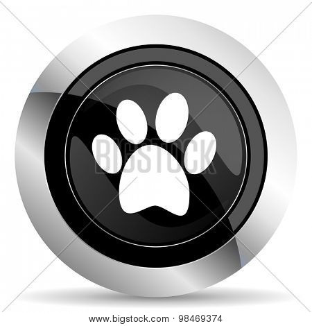 foot icon, black chrome button