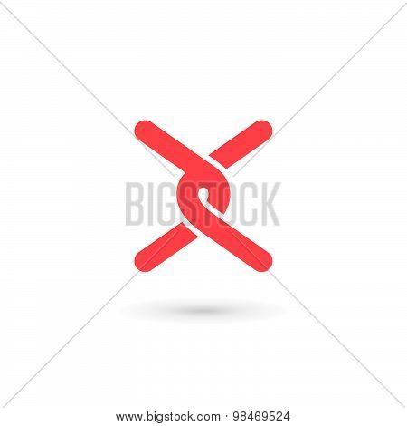 Letter X Logo Icon Design Template Elements