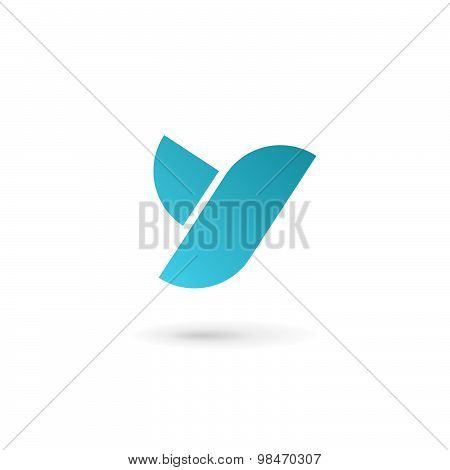 Letter Y Bird Logo Icon Design Template Elements
