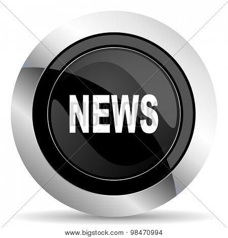 news icon, black chrome button