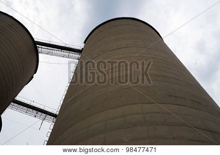 Looking Up the Side of a Silo