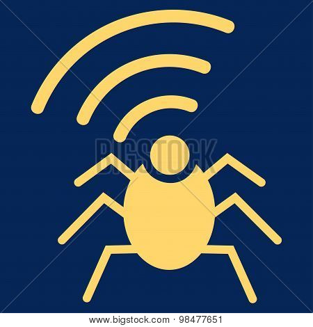 Radio spy bug icon from Business Bicolor Set
