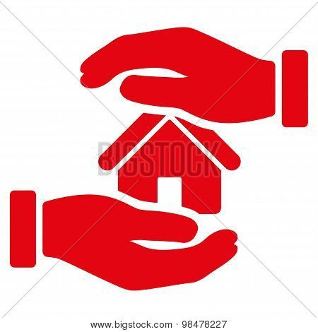 Realty insurance icon from Business Bicolor Set