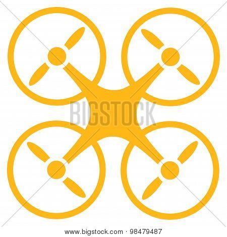 Nanocopter icon from Business Bicolor Set