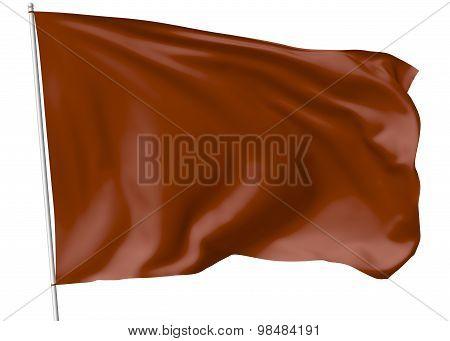 Brown Flag On Flagpole