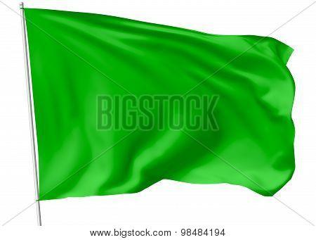 Green Flag On Flagpole