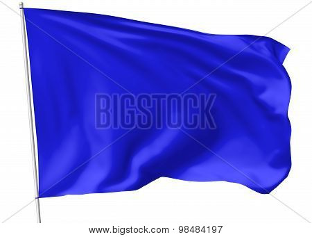Blue Flag On Flagpole