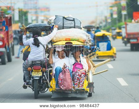 Tricycle Travel In The Philippines