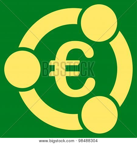 Collaboration icon from BiColor Euro Banking Set