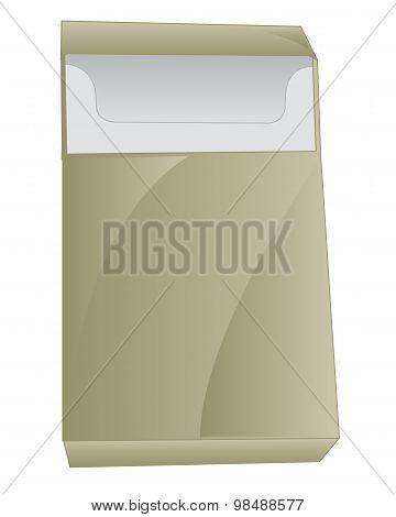 Empty cigarette pack
