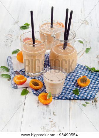 Fruity Smoothies With Fresh Fruits.