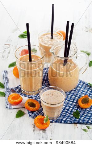 Fruity Smoothie With Fresh Apricots.