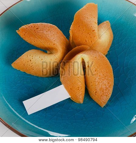 Fortune Cookies  On   A Plate.