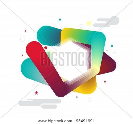 Abstract Smooth Color Explode From Center. Vector Illustration