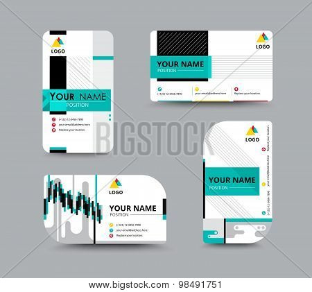 Business Contact Card Template Design. Flyer Template. Vector Illustration.