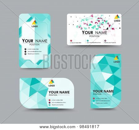 Abstract Business Card, Flyer Design Template. Vector Illustration
