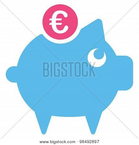 Piggy bank icon from BiColor Euro Banking Set