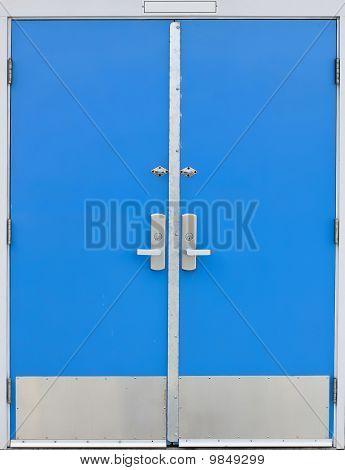 Old School Door Blue