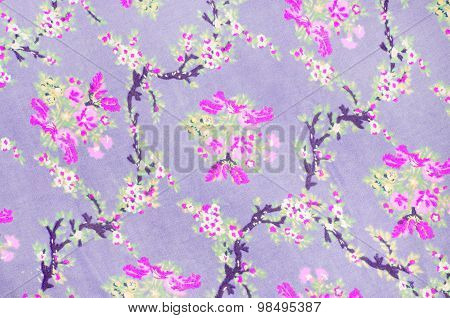 Floral Fabric Texture Background